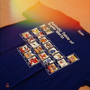 "Blue ""Periodic Table of Super Mario"" T-Shirt"